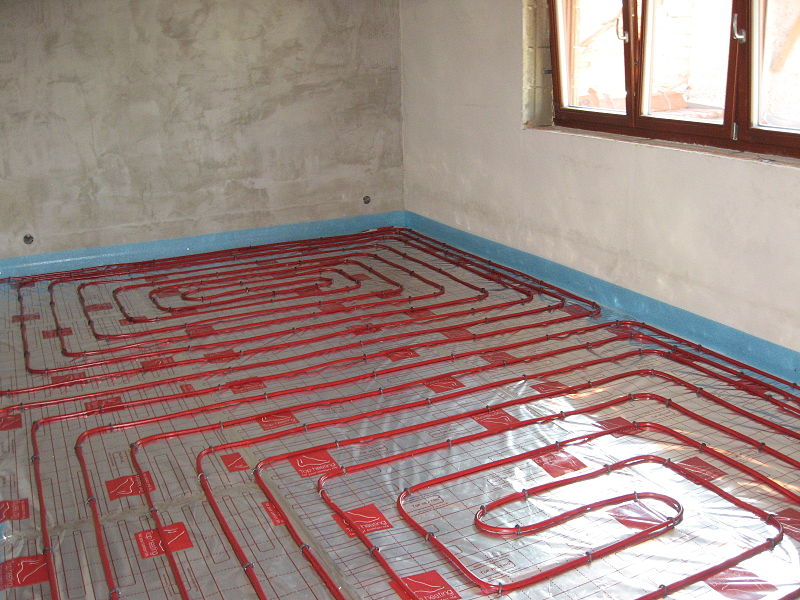 Planchers chauffants ete formation equipement for Garage floor heating systems